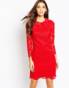 Ted Baker Ameera Scallop Hem Lace Dress