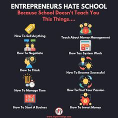 Why Entrepreneurs Hate School-College – My Pin's New Business Ideas, Business Money, Business Inspiration, Business Tips, Financial Literacy, Financial Tips, Business Motivation, Business Quotes, Hate School