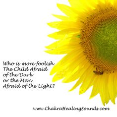 Who is more foolish, the child afraid of the dark, or the man afraid of the light? Enlighten