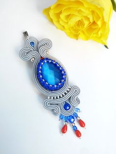 Soutache pendant by MaNiko https://www.facebook.com/maniko2013