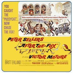 Frank Frazetta wasn't all Sword & Sorcery, he painted some classic movie posters too Classic Movie Posters, Classic Movies, Film Posters, Britt Ekland, Ec Comics, Fox Movies, The Pussycat, Frank Frazetta, Sword And Sorcery