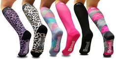 Our new line of fun, fashionable compression socks are NOW AVAILABLE online!