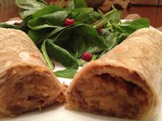 Pinto Bean and Sweet Potato Burritos: These burritos roll up easily for a quick weeknight dinner and you can easily store leftover filling in the fridge for a later meal! #KidsCookMonday #MeatlessMonday