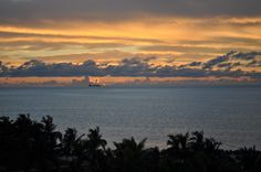 Sunset from an oceanfront room at the Grand Lucayan on Grand Bahama Island