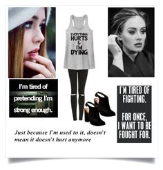 """Hurt"" by banana4563210 ❤ liked on Polyvore featuring Topshop, Just Because and Steve Madden"