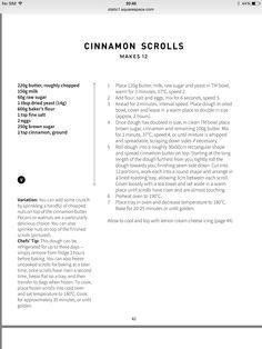 Vegan Food, Vegan Recipes, Cooking Recipes, Cinnamon Scrolls, Dry Yeast, Vegetarian, Sweets, Projects, Kids