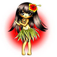 Hula Girl Digi Stamp in Digital images