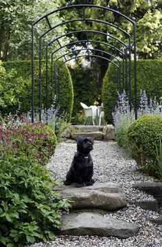 Garden - arch and gravel path - houseandhome