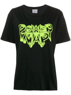 Black cotton Power Nap T-shirt from Ashley Williams featuring a round neck, a print to the front, a print to the rear and short sleeves. Ashley Williams, Power Nap, Black Cotton, Size Clothing, Women Wear, Short Sleeves, Mens Tops, T Shirt, Fashion Design