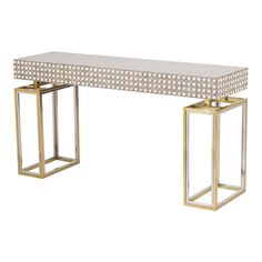 MODERN CONSOLE TABLE |  a beautiful piece of design, mix different finishes  | www.bocadolobo.com #consoletableideas #modernconsole