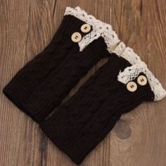 Dark brown boot cuffs(NWT)3 left Very cute! Brand new in package. Price firm unless bundled Lacy girl Accessories Hosiery & Socks