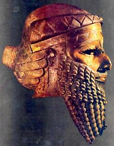 Bronze head of a king, most likely Sargon of Akkad but possibly Naram-Sin. Unearthed in Nineveh (now in Iraq), Akkadian period, c. 2300 BC. Museum, Baghdad