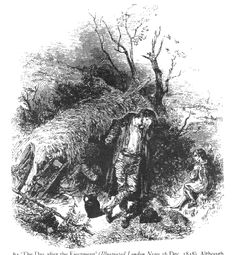 """Irish Views of the Famine """"The Day after the Ejectment."""" From the Illustrated London News, December Irish Famine, Dog Smells, Historian, Macabre, Scene, Priest, World, Illustration, Houses"""