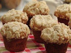 Muffin de maçã com farofa crocante