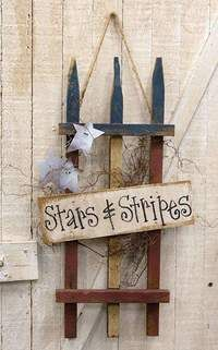 Primitive Wood Crafts, Rustic Crafts, Country Crafts, Diy Wood Crafts, Pallet Crafts, Upcycled Crafts, 4th July Crafts, Fourth Of July Decor, 4th Of July Decorations