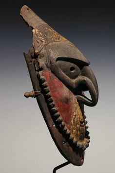 Ancient Manam Island Mask, New Guinea Art, Oceanic Art