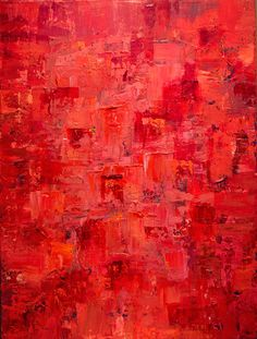 Mélange en Rouge, BWPryorFineArt.com, 48x36 Acrylic on Canvas