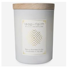 Leap of Faith Candle  By: Ethics Supply Company  $ 36.00 Aromatherapy Candles, Leap Of Faith, Gifts, Presents, Favors, Gift