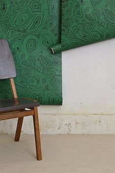Malachite Wallpaper #anthropologie #anthrofave