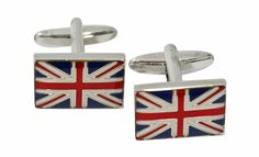 "Mens Gifts - ""London Calling"" Cuff Links - Union Jack Cufflinks - Mens Jewelry"