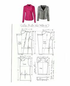 Image may contain: drawing zipper Coat Pattern Sewing, Coat Patterns, Jacket Pattern, Dress Sewing Patterns, Clothing Patterns, Vogue Patterns, Fashion Sewing, Diy Fashion, Ideias Fashion