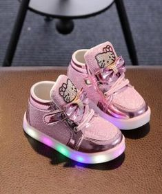 da45874656e0 Hello Kitty LED Glow Sneakers. Baby SneakersGirls ...