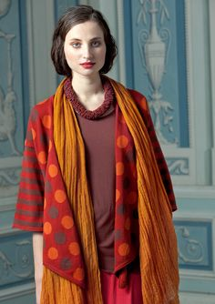 """""""Jupiter"""" intarsia-knit cotton cardigan – Fuzzy & Muzzy – GUDRUN SJÖDÉN – Webshop, mail order and boutiques 