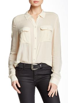 Audrey Button Front Shirt by Paige Premium Denim on @nordstrom_rack