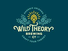 Wild Theory Brewing Co Logo - via @designhuntapp