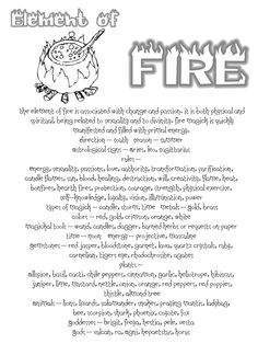 Elements Fire:  The Element of FIRE.