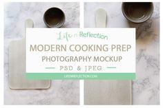 Photo Mockup Modern Cooking Prep @creativework247