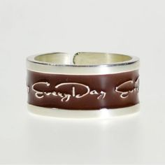 EveryDayGioielli collection Silver Ring 925 Rhodium-plated, Brown, adjustable size, unisex (Made inItaly) band ring EveryDayGioielli http://www.amazon.co.uk/dp/B00HXYN3U0/ref=cm_sw_r_pi_dp_YmZ.tb1TX4Q8C