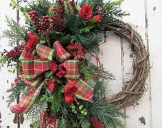 Handcrafted Designer Silk Floral Front Door Wreaths by AprilsGardenOnline Winter Wreaths, Christmas Wreaths, Wreaths For Front Door, Door Wreaths, Floral Wreaths, Holidays And Events, Bowls, Swag, Etsy Seller