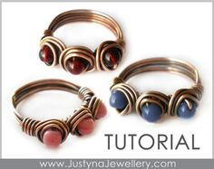 Beaded Ring Tutorial Wirework Ring Tutorial by JustynaJewellery
