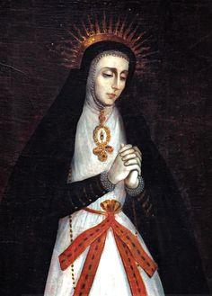 Anónimo novohispano, Virgen de la Soledad de La Victoria de Madrid, óleo sobre tela, sin medidas, ca. 1770-90, colección: Museo de El Carmen de San Ángel, catalogación: Juan Carlos Cancino.