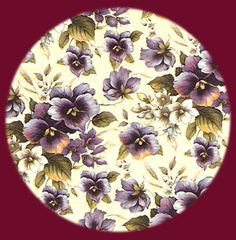 Chintz ❤ Pansies...One of my favorite patterns...I so love pansies, and this is just gorgeous!
