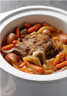 Slow-Cooker Pot Roast – Can you imagine how happy you'd be if you walked in the door after work and were greeted by the smell of slow-cooker beef pot roast? Try it.