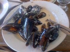 Mussels at Olympia Cafe. Kalk Bay. Cape Town