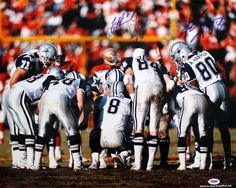 Troy Aikman, Alvin Harper, and Jay Novacek Signed Autographed Dallas Cowboys 1993 Huddle 16x20 Photo by Insider Sports Deals. $164.88