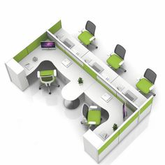 GST series sound proof office cubicles for 4 person for sale