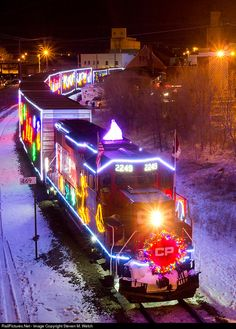 Train snow christmas