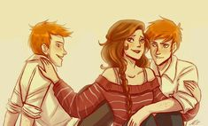 Fred, George and Hermione