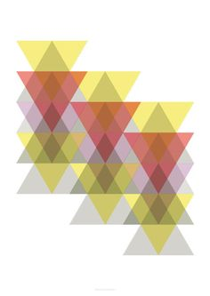 DOWNLOAD Printable Triangles Geometric design by whiteshoesandco