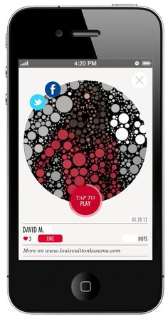 L'application mobile Louis Vuitton x Yayoi Kusama - Web and Luxe - Blog Luxe Marketing