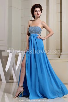 Bow(s) Pageant  Dark Blue Floor-Length Prom Dress Wholesale Price: US$ 159.99