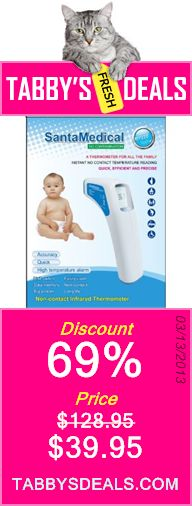Professional Clinical Large LCD Non-contact Infrared Thermometer - Forehead (Fahrenheit Readings) $39.95