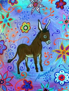 Mexican Burro Painting
