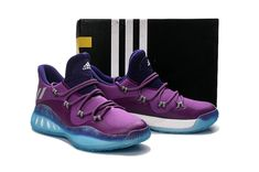 new styles 40875 69840 2017 Authentic adidas Crazy Explosive Andrew Wiggins J Wall Low Club Purple  Blue Lagoon For Sale - Click Image to Close
