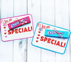 "Free printable teacher appreciation gift idea: ""You're Extra Special."" Simply print and attach to a pack of extra gum. #gift #idea #teacher skiptomylou.org"