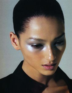 the make-up is very clean, fresh and futuristic.